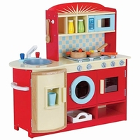 Keuken rood inclusief accessoires