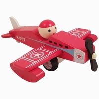 Vliegtuig rood met vaste pop