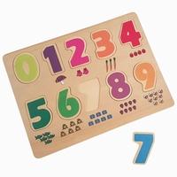 Puzzel cijfers 0-9 met figuren