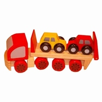 Vrachtauto met 2 auto's